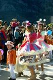 黑山,科托尔- 03/13/2016 :狂欢节小组,代表市场 免版税图库摄影