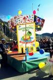 黑山,科托尔- 03/13/2016 :狂欢节转盘 免版税库存图片