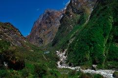 山, Annapurna尼泊尔 免版税库存照片
