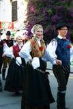 黑山, Herceg 11月- 28/05/2016 :民间传说合奏Iskraemeco的成员从市的克拉尼,斯洛文尼亚 免版税库存照片