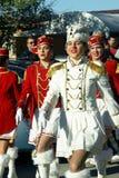 黑山, Kumbor - 02/06/2016 :城市新海尔采格军乐队女队长的队伍 库存照片