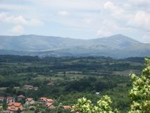 山, Rtanj, Popovica,观点,索科矿泉村,塞尔维亚 免版税库存图片