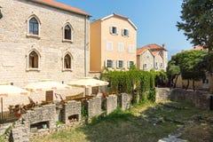 黑山:考古学挖掘在老布德瓦 库存照片