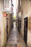 黑山:街道在老布德瓦 图库摄影