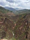 山:达吕伊峡谷  免版税库存照片