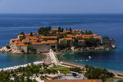 黑山-亚得里亚海的海岸的珍珠 库存图片