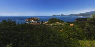黑山-亚得里亚海的海岸的珍珠 免版税图库摄影