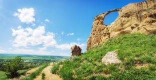 山`在Kislovodsk附近的圆环`,俄罗斯 图库摄影