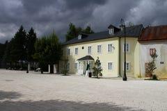 黑山 民族志学博物馆在采蒂涅镇  库存图片