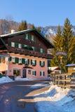 山滑雪胜地圣Gilgen奥地利 免版税图库摄影