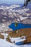 山滑雪胜地圣Gilgen奥地利 图库摄影