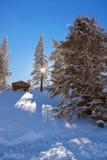 山滑雪胜地圣Gilgen奥地利 库存照片