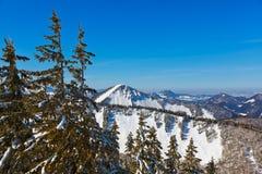 山滑雪胜地圣Gilgen奥地利 库存图片