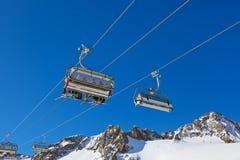 山滑雪胜地-因斯布鲁克奥地利 免版税库存照片