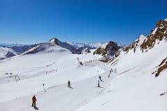 山滑雪胜地-因斯布鲁克奥地利 免版税库存图片