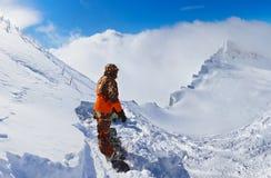 山滑雪胜地Kaprun奥地利 库存照片
