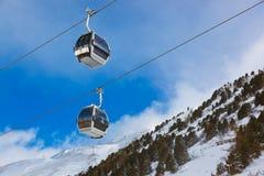 山滑雪胜地Obergurgl奥地利 免版税库存照片