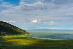 黑山 skadar的湖 库存图片