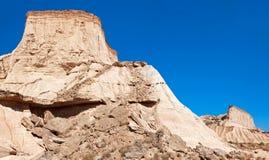 山Castildetierra在Bardenas Reales自然公园, Navarra, 库存照片