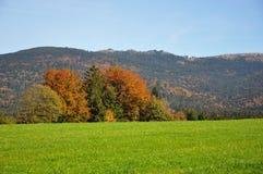 山Dreisessel,巴伐利亚 库存图片