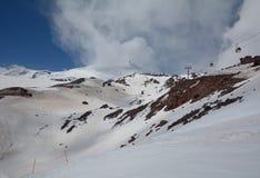 山Elbrus看法  俄国 库存图片