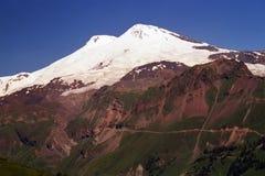 山Elbrus.5642m.Highest山在欧洲 库存图片