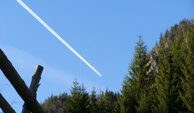 山forrest喷气机 库存图片