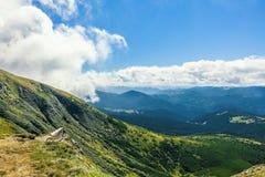 从山Goverla的看法 免版税图库摄影