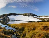 山Meadow湖风景风景 库存照片