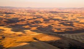 绵延山Palouse地区华盛顿州农田 免版税库存图片