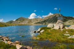 山Pirin Tevno湖风景 库存照片