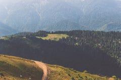 山Roza Khutor 图库摄影