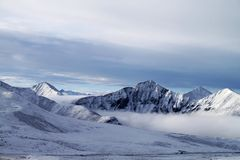 山s雪西藏 库存图片