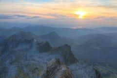 山saentis瑞士 库存图片