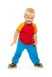 2岁在白色隔绝的男孩 免版税库存图片