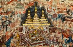 300岁壁画在泰国 图库摄影