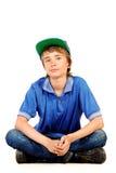 14岁男孩 免版税库存图片
