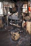 100岁铁匠商店& x28; smithy& x29;在历史的方铅矿,伊利诺伊 免版税库存图片