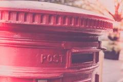 岗位箱子在英国 免版税库存图片
