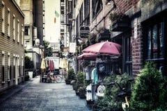 岗位胡同在街市西雅图华盛顿 库存图片