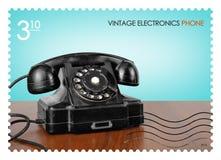 岗位邮票 3减速火箭的电话 10 免版税库存图片