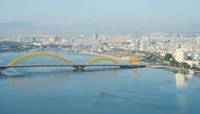 岘港市市中心看法  库存照片