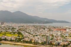 岘港市市2015年5月商业区  免版税库存图片