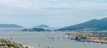 岘港市市2015年5月商业区  免版税图库摄影