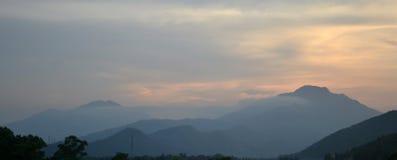岘港市日落 免版税图库摄影