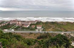 岘港市海滩,越南 免版税库存图片