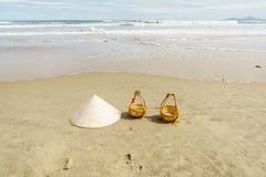 岘港市海滩,越南 免版税图库摄影