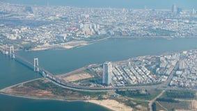"""岘港市,越南†""""事务和岘港市市管理区域  免版税库存照片"""