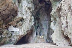 岘港市,越南- 3月18 :大理石在D附近的山风景视图 免版税库存照片