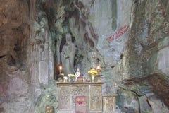 岘港市,越南- 3月18 :大理石在D附近的山风景视图 库存图片